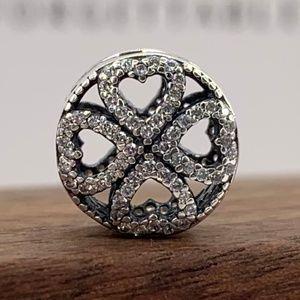 Pandora Petals of Love Charm #791808CZ